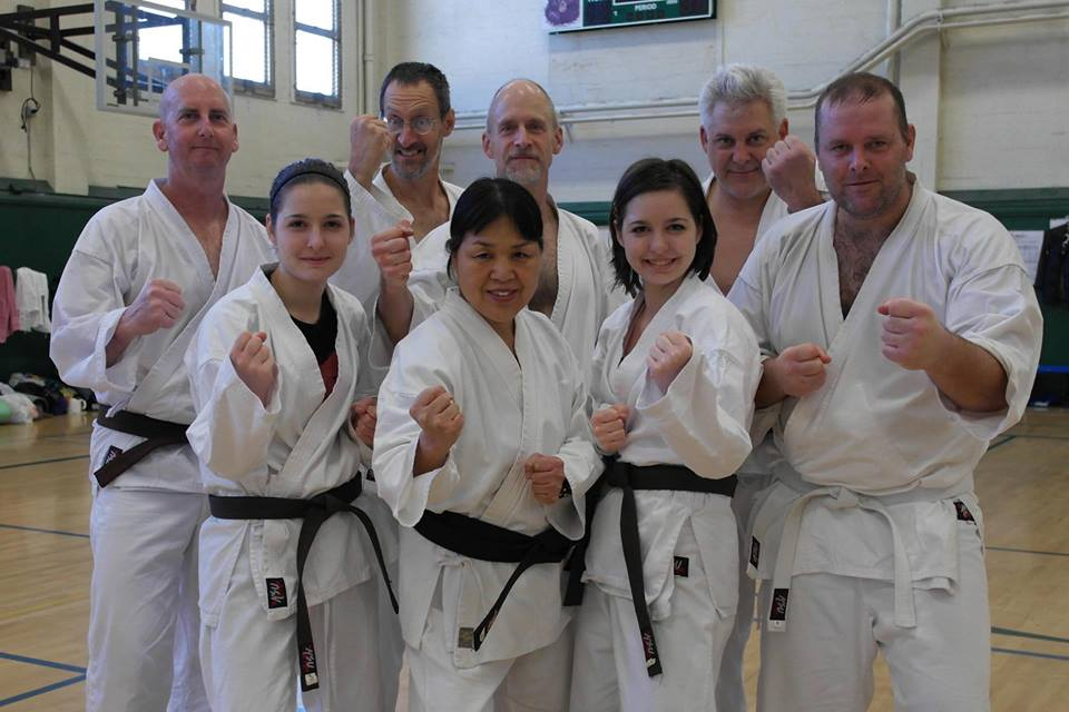 Redding Shotokan Dojo members at SKA Winter Special Training, January 2013
